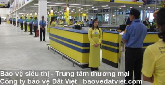 Bảo vệ siêu thị - Trung tâm thương mại